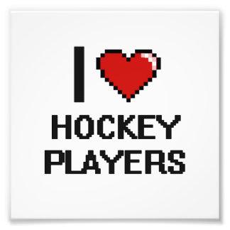 I love Hockey Players Photo Print