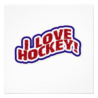 I Love Hockey T-shirts and Gifts Invites