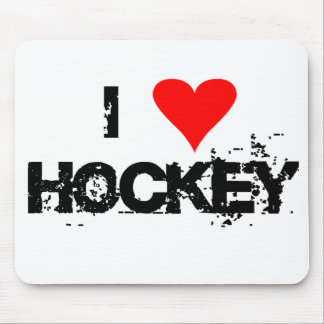 I love hockey T-shirts and Gifts. Mouse Mat