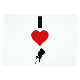 I Love Hockey (Vertical) Card