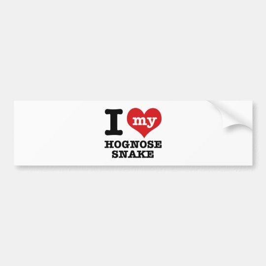 I Love Hognose snake Bumper Sticker