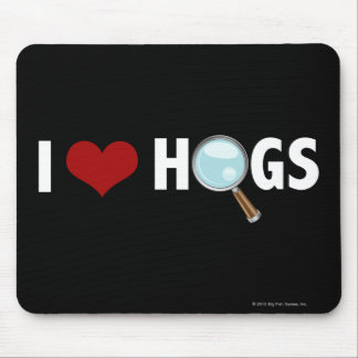 I Love Hogs Red/White Mouse Mat