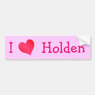 I Love Holden Bumper Sticker