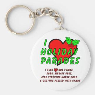 I Love Holiday Parades Key Chains
