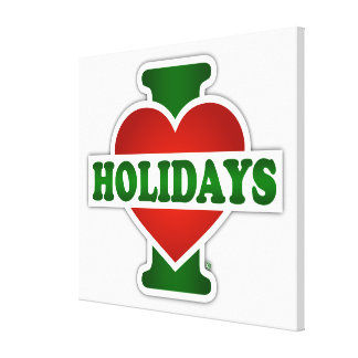 I Love Holidays Canvas Print