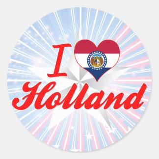 I Love Holland, Missouri Round Stickers