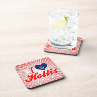 I Love Hollis Maine Coaster