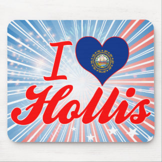 I Love Hollis New Hampshire Mouse Pads
