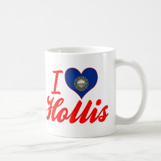 I Love Hollis, New Hampshire Mugs