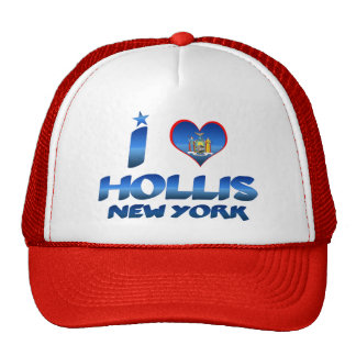 I love Hollis, New York Trucker Hats