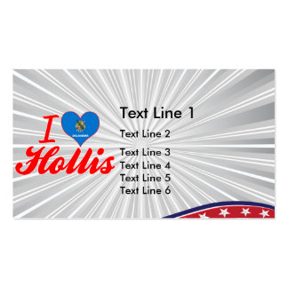 I Love Hollis, Oklahoma Business Card Templates