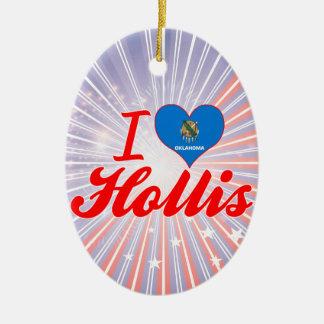 I Love Hollis, Oklahoma Christmas Ornament