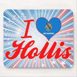 I Love Hollis Oklahoma Mouse Pads