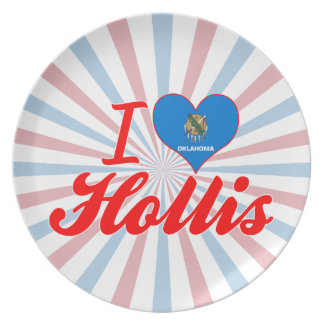 I Love Hollis, Oklahoma Party Plates