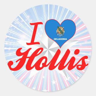 I Love Hollis, Oklahoma Stickers