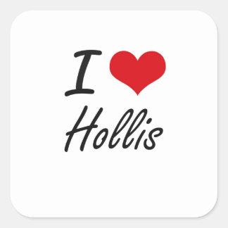 I Love Hollis Square Sticker