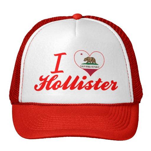 I Love Hollister, California Mesh Hats