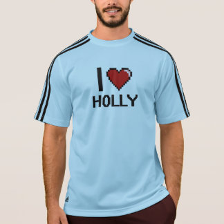 I Love Holly Digital Retro Design Tees