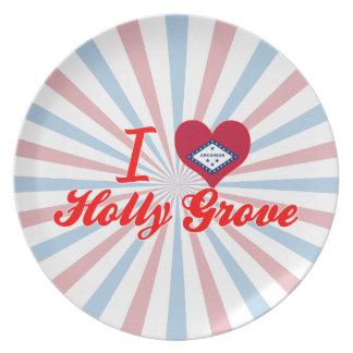 I Love Holly Grove, Arkansas Dinner Plate