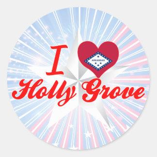 I Love Holly Grove, Arkansas Round Stickers