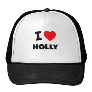 I Love Holly Hat