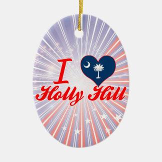 I Love Holly Hill, South Carolina Christmas Ornaments