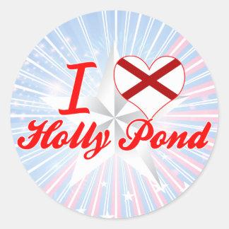 I Love Holly Pond, Alabama Round Stickers