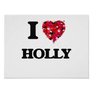 I Love Holly Poster