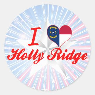 I Love Holly Ridge, North Carolina Round Stickers