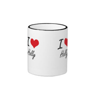 I love Holly Ringer Mug