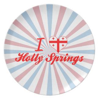 I Love Holly Springs, Georgia Dinner Plates