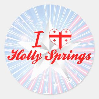 I Love Holly Springs, Georgia Stickers