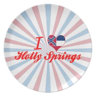 I Love Holly Springs, Mississippi Dinner Plates