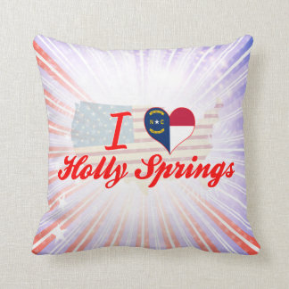 I Love Holly Springs, North Carolina Throw Pillow