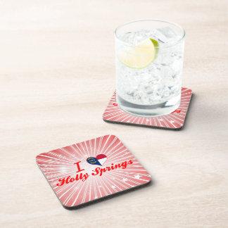 I Love Holly Springs North Carolina Drink Coasters