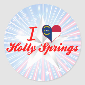 I Love Holly Springs, North Carolina Stickers