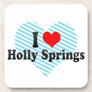 I Love Holly Springs United States Coasters