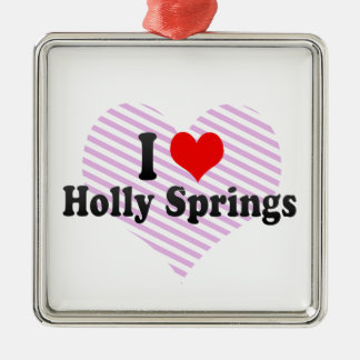 I Love Holly Springs, United States Christmas Ornaments