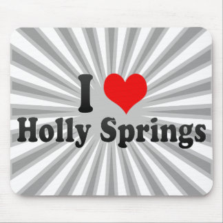 I Love Holly Springs United States Mouse Pad