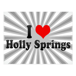 I Love Holly Springs, United States Postcard