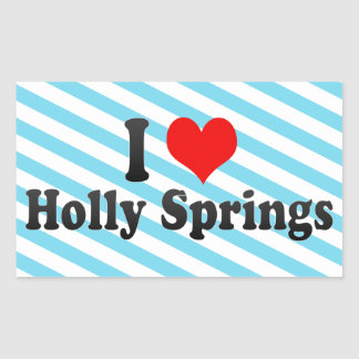 I Love Holly Springs, United States Rectangle Stickers
