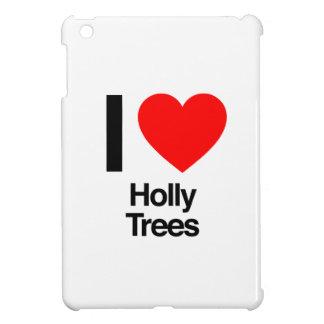 i love holly trees iPad mini cases