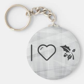 I Love Hollys Basic Round Button Key Ring