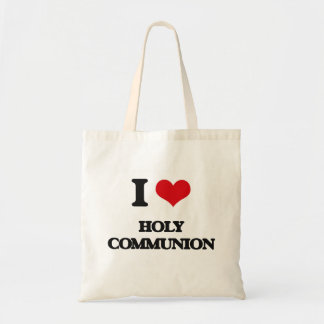 I love Holy Communion Canvas Bags
