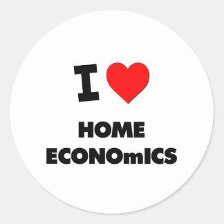 I Love Home Economics Round Sticker