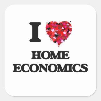 I Love Home Economics Square Sticker