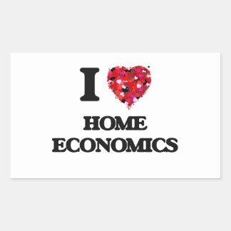 I Love Home Economics Rectangular Sticker