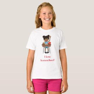 I love home school little girl T-Shirt