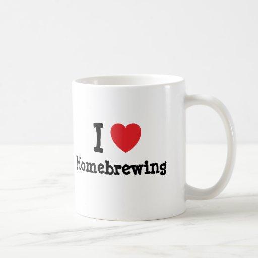 I love Homebrewing heart custom personalized Mugs