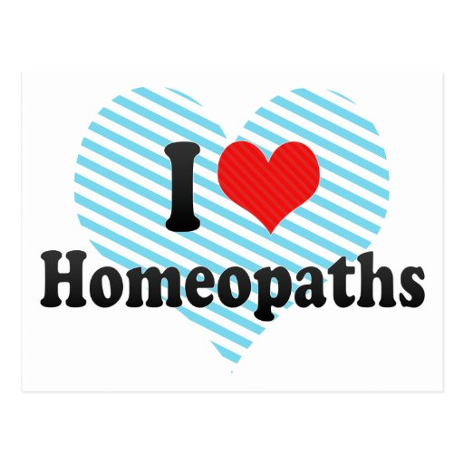 I Love Homeopaths Postcard